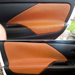 Image 1 - 4 Stks/set Auto Interieur Microfiber Lederen Deur Panel Armsteun Cover Trim Voor Mitsubishi Outlander 2014 2015 2016 2017 2018