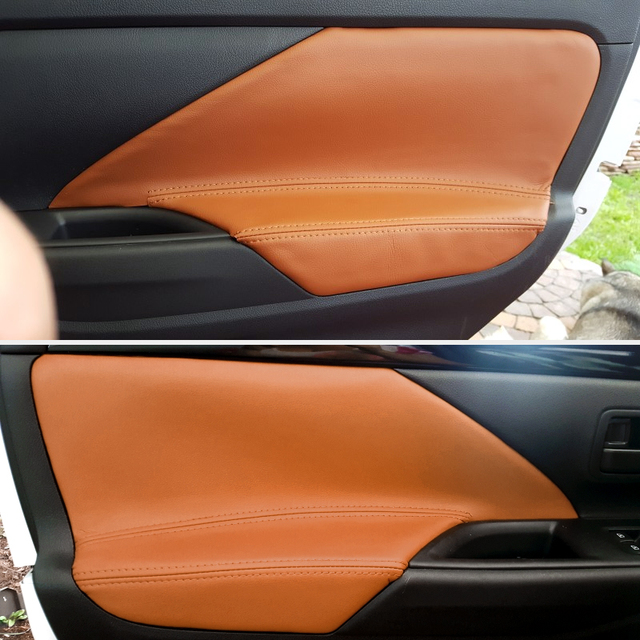 4 Stks/set Auto Interieur Microfiber Lederen Deur Panel Armsteun Cover Trim Voor Mitsubishi Outlander 2014 2015 2016 2017 2018