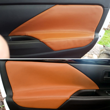 4pcs/set Car Interior Microfiber Leather Door Panel Armrest Cover Trim For Mitsubishi Outlander 2014 2015 2016 2017 2018