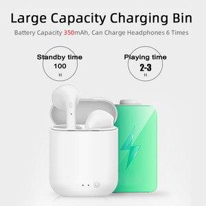 Image 2 - Auriculares TWS Mini 2 inalámbricos por Bluetooth 5,0, Auriculares deportivos con micrófono y caja de carga para iPhone y Xiaomi PK i9s i7s