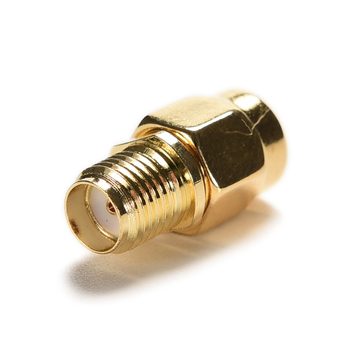1pcs gold RP-SMA Male Plug to SMA Female Jack RF Coax Adapter convertor Connector Straight goldplated image