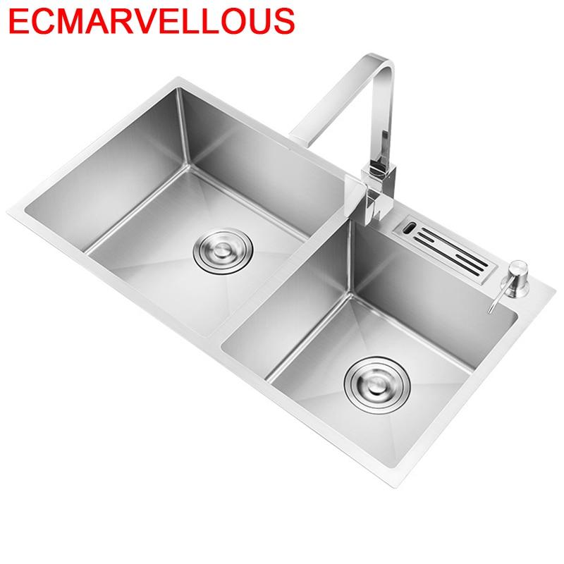 Lavello Stainless Steel Gootsteen Evier Afwasbak Lavandino Cucina Cuba Pia Cozinha Lavabo De Cocina Fregadero Kitchen Sink