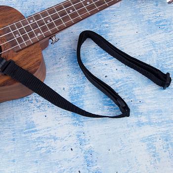 Regulowany nylonowy pasek do Ukulele gitara szyi wiszące Instrument muzyczny pas do zawiesia gitara instrumenty strunowe akcesoria tanie i dobre opinie CN (pochodzenie) Ukulele Strap Guitar Accessories Ukulele Accessories 54-67cm 21 25-26 37in (adjustable length) Black About 15g