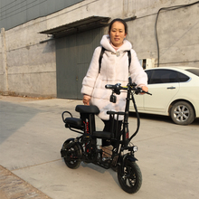 12-inch electric bike Folding parent-child electric bicycle Battery detachable electric bike adult generation drive bicycle