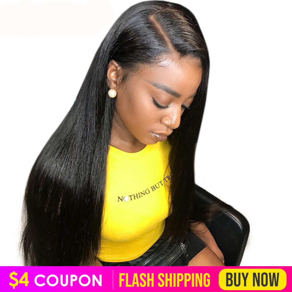 13x6 Lace Front Human Hair Wigs Pre Plucked Straight Wig 8-26 Inch 150% Brazilian Straight Remy Hair Lace Frontal Wigs For Sale