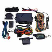 Système d'alarme de voiture bidirectionnel de Version russe avec le boîtier porte-clé à télécommande d'affichage à cristaux liquides de démarrage de moteur pour B9 avec le cadeau de couverture de silicone