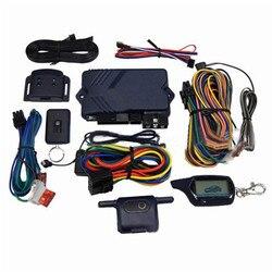 Versión rusa sistema de alarma de coche de dos vías con arranque del motor LCD Control remoto llavero funda para B9 con cubierta de silicona regalo