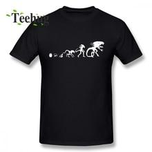 ALIEN T SHIRT Mens Fashion Alien Evolution Tee Shirt For Men Casual Streetwear Boy 100% Cotton Clothes