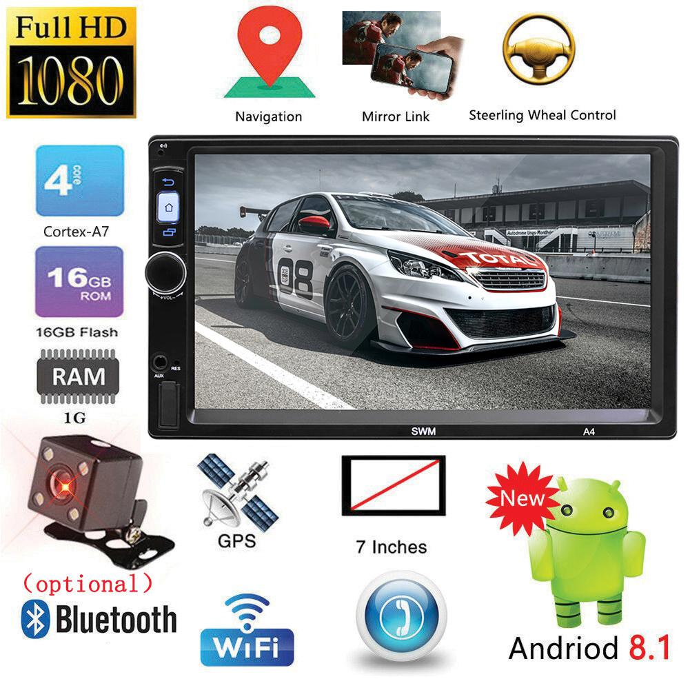 Car Radio 7inch Touch Screen 2Din Android 8.1 Car Multimedia Player GPS Navigation Bluetooth WiFi USB FM HD Video For SWM A4 image