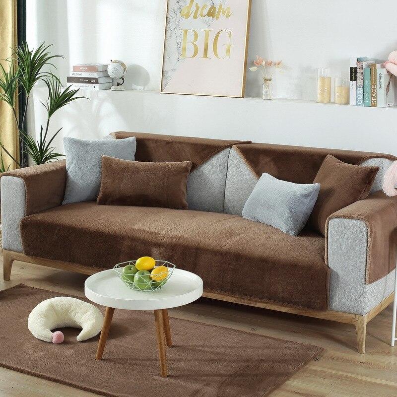 Купить super soft plush combination sofa cover autumn winter solid