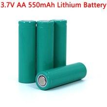 Baterias de lítio ternário inr14500 da bateria de lítio do aa 3.7 v 550 mah para a arma da temperatura, controle remoto, rato