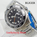 Nologo автоматические мужские часы функция GMT 40 мм Серебристый футляр для часов MINGZHU автоматический механизм