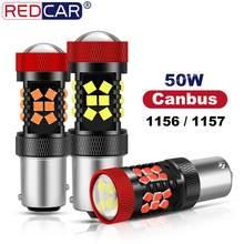 Ampoule Led Canbus 1156 BA15S, 2 pièces, ampoule Led BAU15S PY21W, lampe de signalisation sans erreur 1157 Led BAY15d P21/5W, clignotants 3030 puces