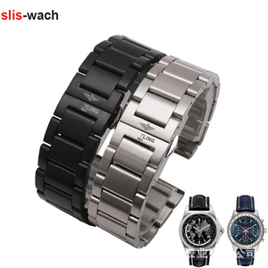 Watch Accessories Bracelet FOR Breitling Super Ocean Avengers Air Defense Watch Strap Solid Stainless Steel Watch Band 22mm