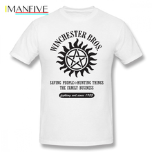Dean Winchester T Shirt SUPERNATURAL WINCHESTER BROTHERS T-Shirt Printed Funny Tee Short Sleeve Summer 100 Cotton Tshirt