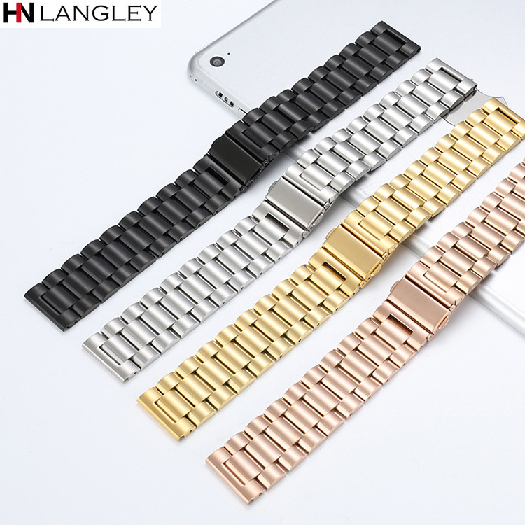 General Watch Bands Stainless Solid Steel Band 304 Watches Metal Strap Watch Accessories 16mm 18mm 20mm 22mm 24mm Dropshipping