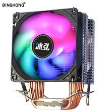 Enfriador de CPU, 4 tubos de calor de cobre puro, sistema de refrigeración de 3 pines 9cmCPU, ventilador de refrigeración, CPU, radiador para AMD INTEL 2011 X79 X99