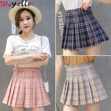 XS-XXL High Waist A-Line Women Mini Skirt Striped Stitching Sailor Pleated Skirt Women Elastic Waist Sweet Girls Dance Skirts