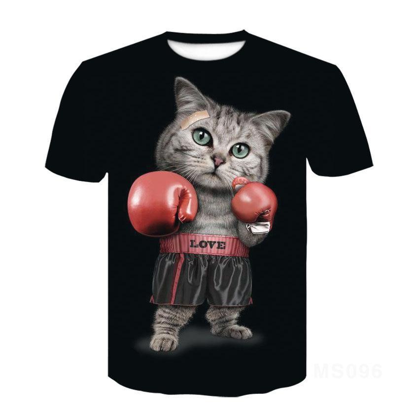 Cat Ragdoll Short Sleeve T  Shirt Half Sleeve 3d Printed T  Shirt Tops Men Women Kids Pet T  Shirt Asian Size 6xl