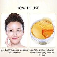 Gold Moisturizing Eye Mask Patch 60pcs=30pairs Crystal Collagen Eye Ma