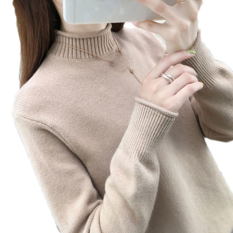Autumn Winter Cashmere Sweater Women Knitted Turtleneck Pullover Long Sleeve Tricot Sweaters And Pullovers Female Jumper Tops