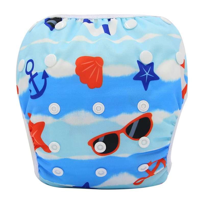 Swimwear For Boys&Girls Reusable Board Short Trunks Baby Swim Diaper Cloth Diapers Character Baby Nappies Unisex Training Pant