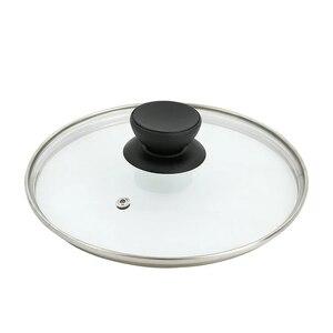 Image 2 - Części kuchenne szkło hartowane okrągła pokrywa smażenie pokrywa na patelnię widoczna pionowa pokrywa 16 32CM żaroodporne garnek błyskawiczny akcesoria