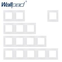 Wallpad-Marco de Panel blanco para Hotel, marco Vertical y horizontal de 1, 2, 3, 4, 5 marcos