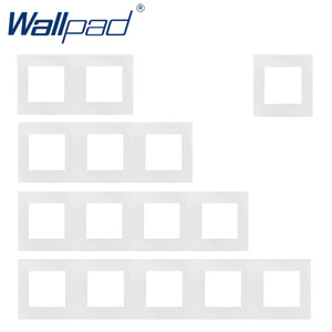 Wallpad Luxury PC Panel Frame White Hotel Panel Vertical and Horizon Frame 1 2 3 4 5 Frames Panel Only
