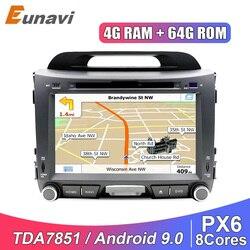 Eunavi 2 din Android car multimedia player for KIA sportage 2011 2012 2013 2014 2015 auto dvd radio 2din stereo headunit GPS