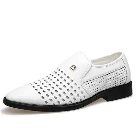 รองเท้าแตะฤดูร้อนรองเท้า breathable รองเท้าบุรุษวัยกลางคนรองเท้า cut-outs รองเท้าหนังรองเท้าแตะจัดส่งฟรี M436