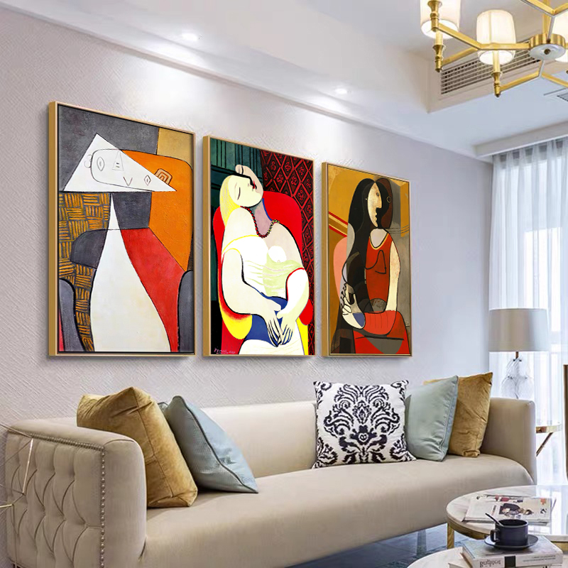 Абстрактная Современная живопись Декор для дома плакаты и принты без рамки настенное искусство Пикассо холст картина для дома дизайн