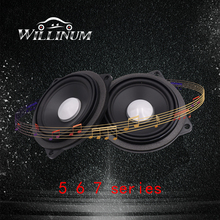 Car mid range speaker for BMW E12 E23 E24 E28 E32 E34 E39 E59 E60 E63 E65 F01 F10 F11 midrange loudspeaker audio stereo tweeter 1 pair car auto round exhaust muffler tip stainless steel pipe for bmw 5 series f10 f11 f07 e12 e28 e34 e39 e60 e61 car styling