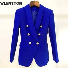 2020 spring autumn slim blazer jacket women metal button double