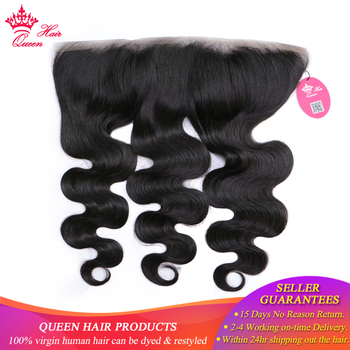 Queen Hair Official Store Ear to Ear 13*4 Lace Frontal Peruvian Body Wave Frontal Closure Virgin Human Hair Closure Fast Shippin
