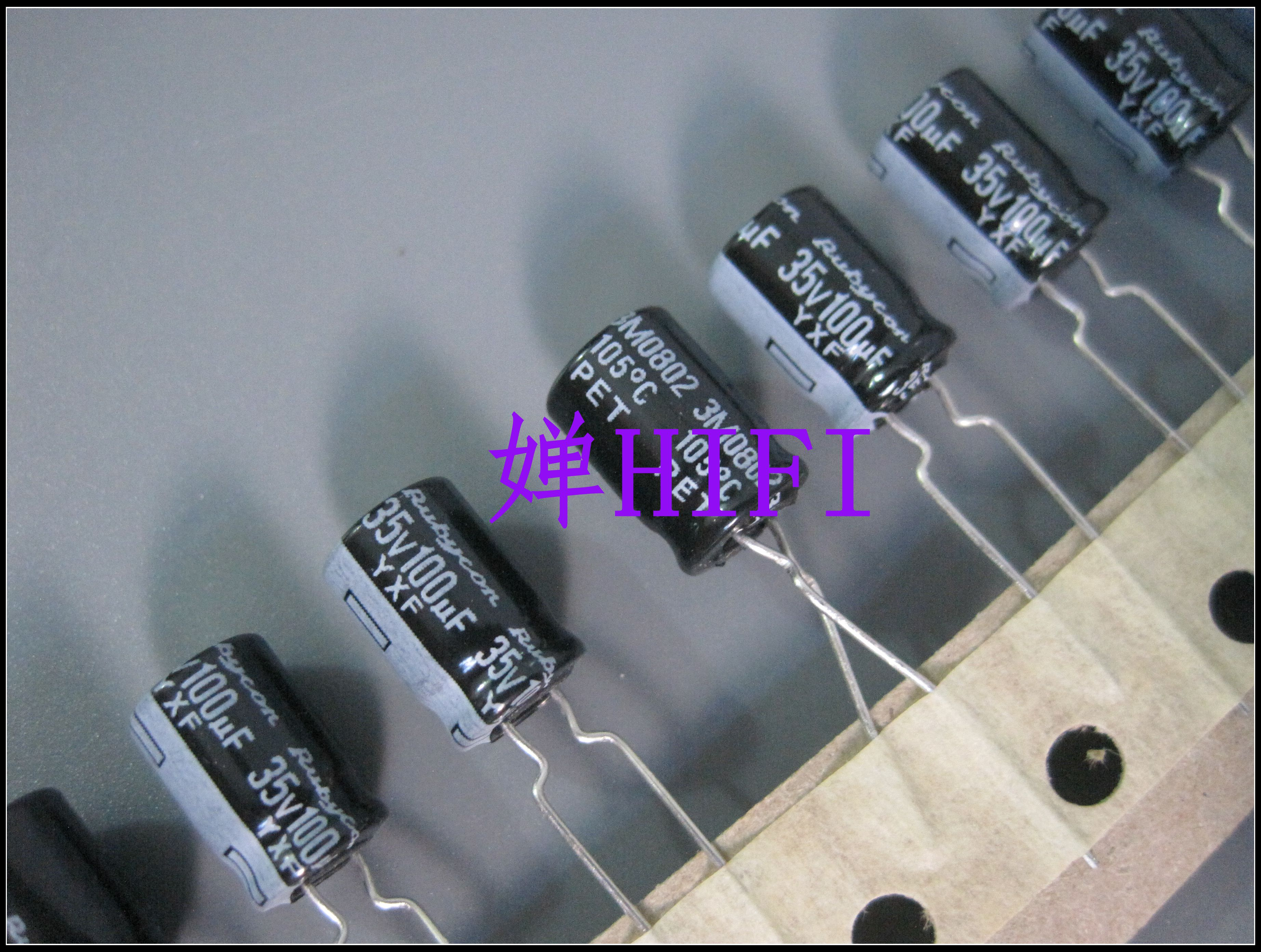 20PCS RUBYCON YXF 35V100UF 8x11.5MM Electrolytic Capacitor 100uf 35v Yxf 100uF/35V High Frequency Low Resistance Long Life