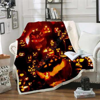 Happy halloween pumpkin Fleece Blanket 3D full printed Wearable Blanket Adults/kids Fleece Blanket HOME ACCESSORIES drop shippng