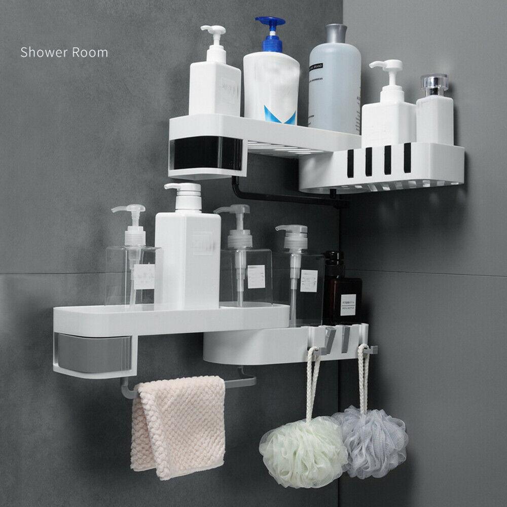 Corner Shower Shelf Bathroom Shampoo Shower Shelf Holder Kitchen Storage Rack Organizer Wall Mounted Type 1 piece