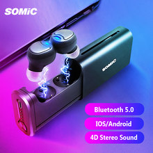 SOMiC W20 TWS Earbuds Sports Bluetooth 5.0 True Wireless Earphones In-ear Noise Cancelling Headset 450mAh Battery for ios Phone(China)
