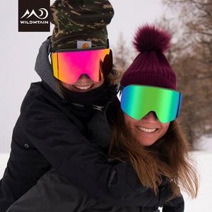 Image 5 - Wildmtain gm1 magnético óculos de neve dupla camada anti nevoeiro óculos de esqui, lente intercambiável uv400, masculino feminino crianças óculos de esqui