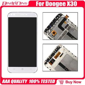 Image 4 - Сменный ЖК экран для DOOGEE X30, 100% оригинальный дигитайзер сенсорного экрана с рамкой, модуль для ремонта