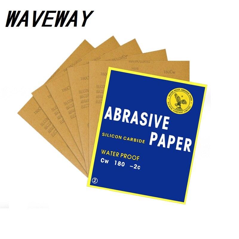 Paper Abrasive Waterproof Paper Abrasif Papier De Verre Carta Vetrata Grit P80-2000 Wet Dry Sandpaper Sheet Polishing