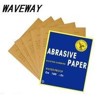 Paper Abrasive Waterproof Abrasif Papier De Verre Carta Vetrata Grit P80-2000 Wet Dry Sandpaper Sheet Polishing