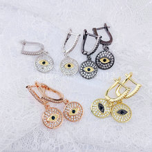 5pairs,Women Earrings,Fashion Jewelry,CZ Setting,Eyes Shapes for Women,4 Colors Can Wholesale