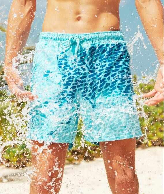 Pantalons enfants décoloration pantalons de plage maillot de bain sens décoloration Shorts maillot de bain garçon couleur changeante maillots de bain