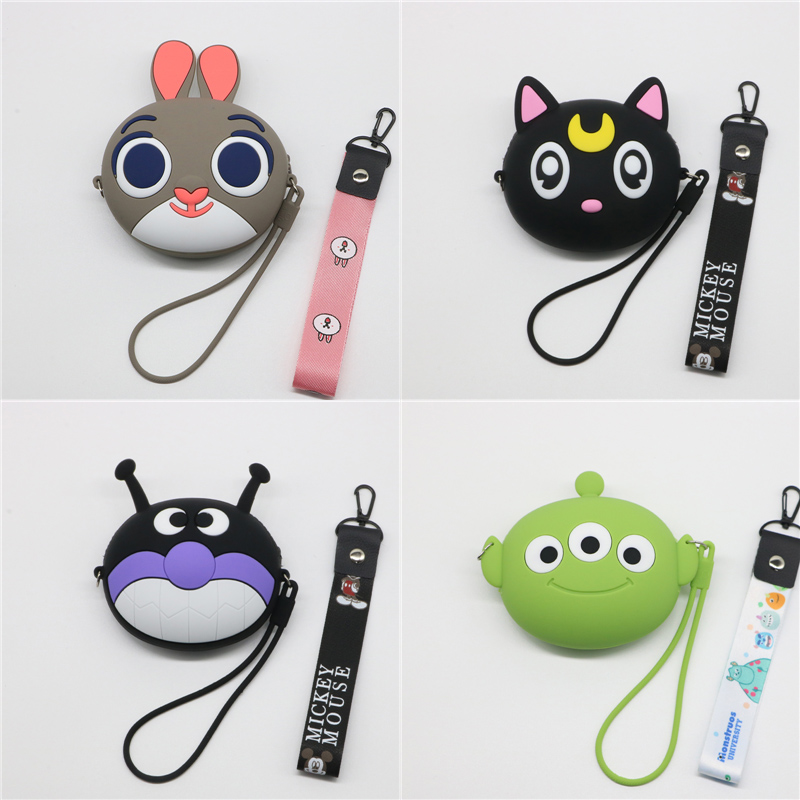 New Fashion Party Purses Mini Cartoon Silicone Kawaii Wallet Handbags Candy Color Zipper Coin Pouch Cute Pocket Bursa Coin Purse