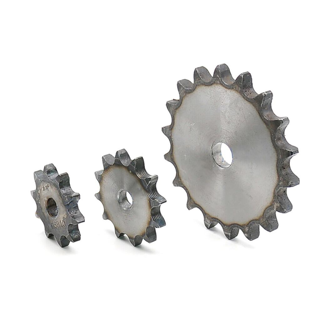 1Pcs Flat Chain Gear 08B 10 Teeth To 25 Teeth Sprocket Wheel A3 Steel Quenching