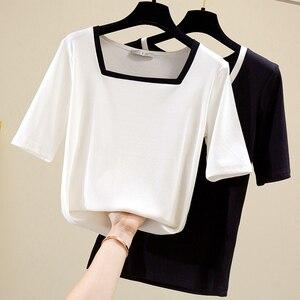 Новая летняя классическая женская футболка со светодиодной подсветкой, однотонная