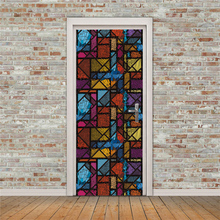 цена на 3D creative Dotted abstract painting door stickers wall stickers self-adhesive waterproof removable