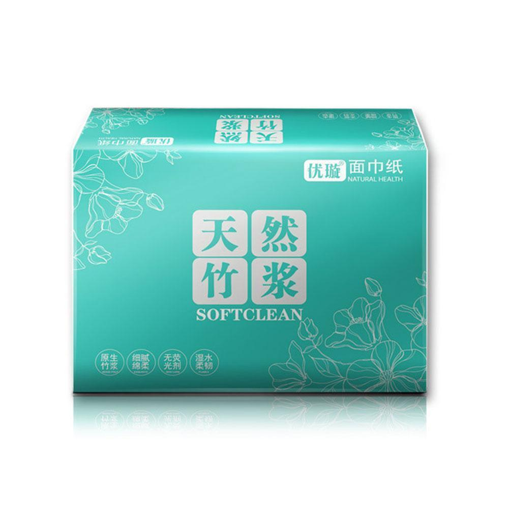 Hygienic Natural Bamboo Pulp 4-layers Cleaning Napkin No Additives Plastic Home Tissue Container Quality Napkin High Kitche Y9L8
